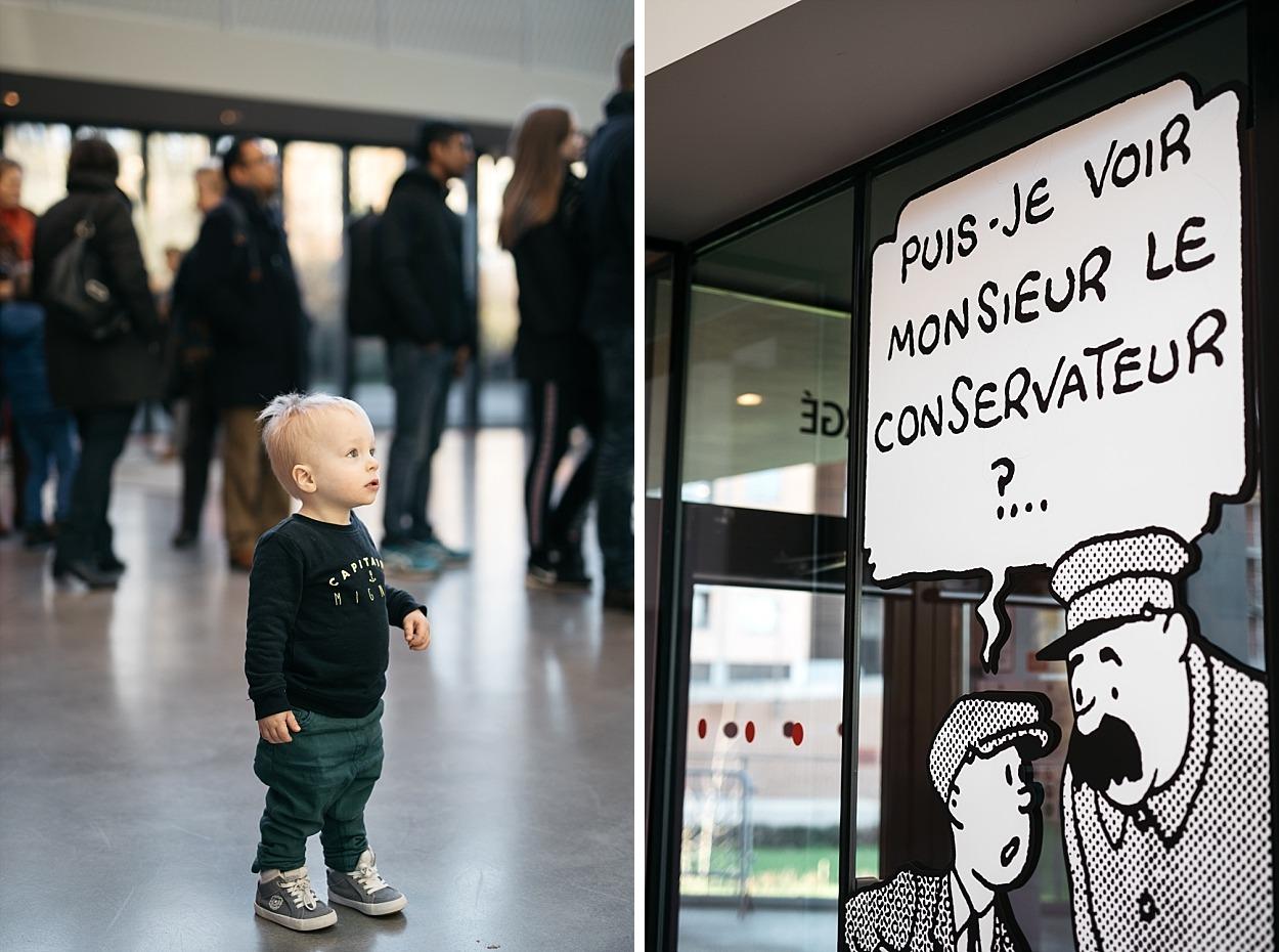 Musée Hergé - à l'entrée